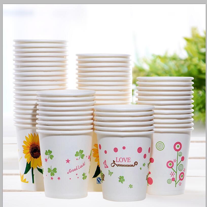 特价纸杯一次性杯子加厚口杯批发商用家用办公可定制logo整箱包邮的细节图片7