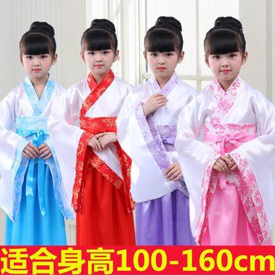 小女孩立领礼服复古古风套装儿童汉服女小孩传统清新贵妃