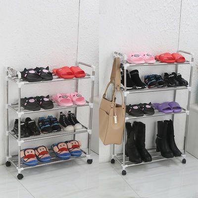 【送滑轮】不锈钢鞋架简易多层家用防尘经济型宿舍鞋架收纳鞋柜子