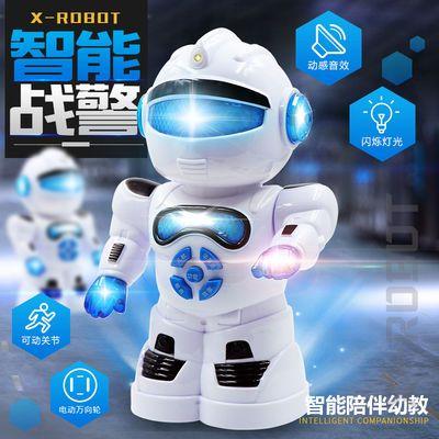 儿童益智讲故事闪光早教机器人电动T1智能机器人模型玩具