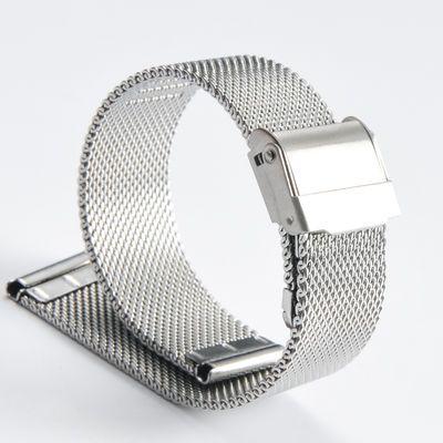 不锈钢表带精钢表带金属表链表带男 情侣表带男女通用 规格种类多