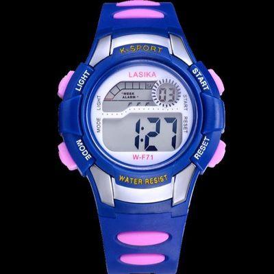 儿童手表女孩电子表男孩30米防水游泳夜光小学生男女运动可爱手表