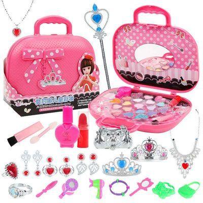 女孩化妆盒套餐儿童过家家玩具化妆品表演彩妆生日礼物指甲油眼影