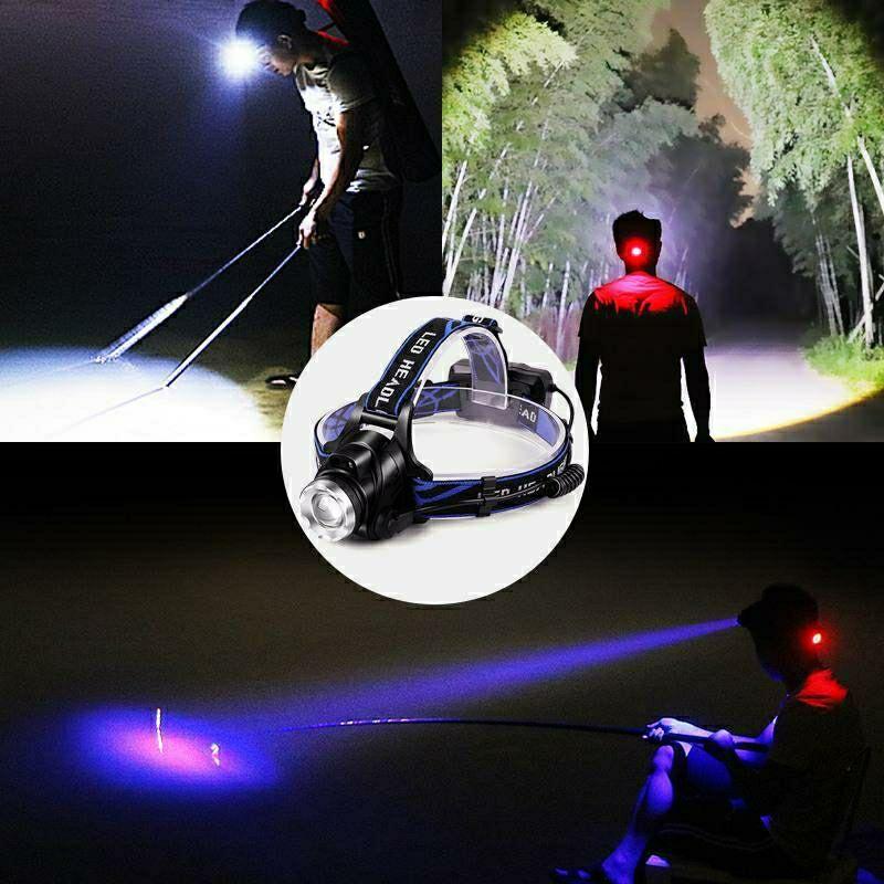 便宜的头灯强光感应充电防水超亮远射LED头戴式手电筒户外钓鱼夜钓矿灯