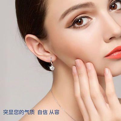 百搭气质可爱耳环女学生韩版水晶耳钉锆石耳扣长款玲珑球银针耳饰