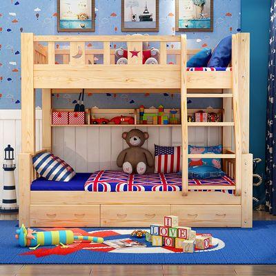 加厚加粗全实木上下床分体高低床成人儿童床子母床双层床上下铺床