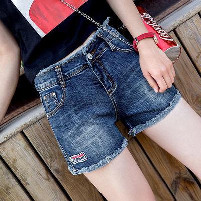 高腰弹力牛仔短裤女韩版学生宽松显瘦2020夏季新款百搭裤大码热裤