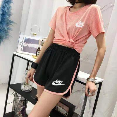 夏季新款速干衣运动套装女跑步健身宽松t袖瑜伽服短裤两件套