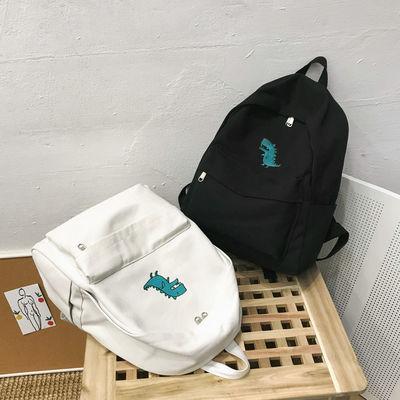 帆布包ins双肩包女学生书包女初中小学生韩版校园高中年级大容量