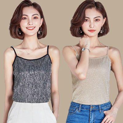 吊带背心女性感蕾丝花边V领显瘦内搭打底衫女学生外穿韩版上衣潮