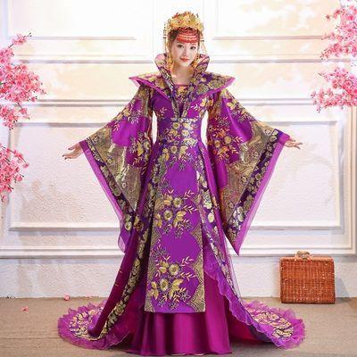 古装服装女贵妃拖尾古代大唐汉服正品原创皇后宫廷舞台演出服古风