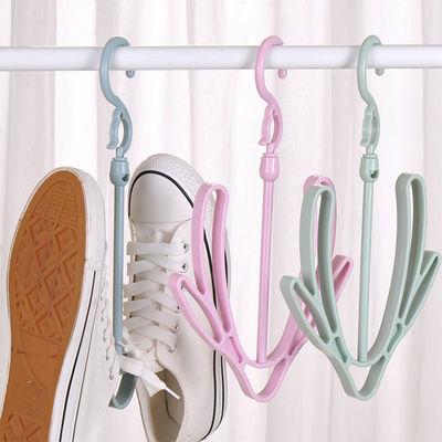 个装防风晒鞋架阳台防滑凉衣晾鞋架双钩室外挂钩收纳领带