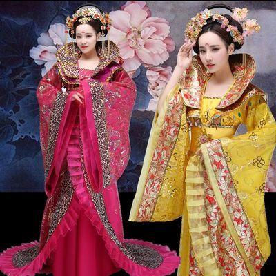 中国风古装武则天汉唐宫廷皇后贵妃 cos仙女摄影舞台演出拖尾汉服