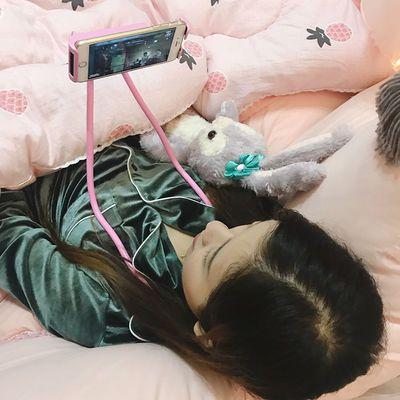 创意懒人挂颈式手机支架简约便携学生追剧网红直播多功能挂脖
