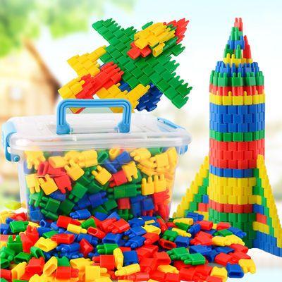 儿童子弹头积木拼装益智玩具男孩女孩3-8岁拼插火箭头小孩玩具