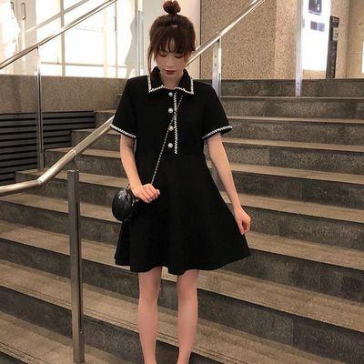 大码女装夏装新款胖mm中长款洋气连衣裙胖妹妹遮肚显瘦很仙的裙子