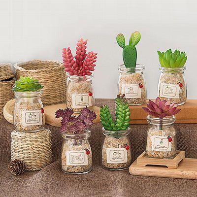 北欧ins风盆栽绿植室内客厅创意多肉小盆景摆件仿真植物装饰摆设