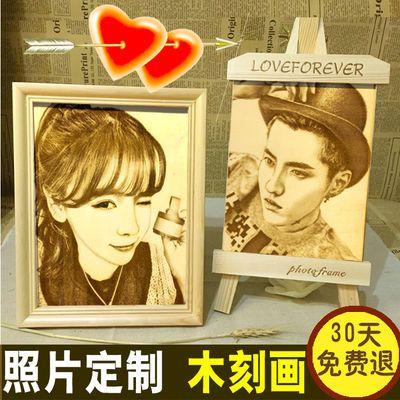 520母亲节生日礼物女生男生送闺蜜同学创意diy礼品木刻画定制照片