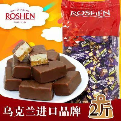 乌克兰进口ROSHEN/如胜巧克力风味花生香脆米糖果500g喜糖果创意