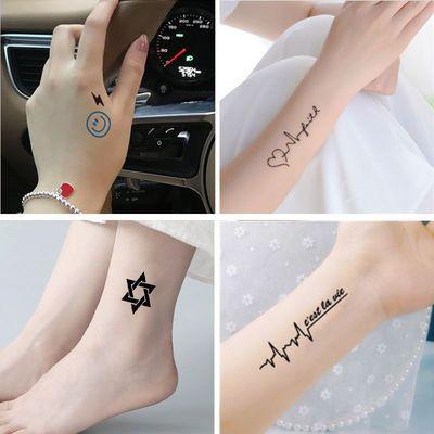 纹身贴防水男女持久仿真字母个性英文可爱花臂半永久性感纹身贴纸