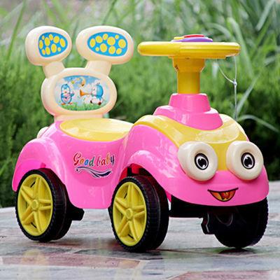 儿童助步车四轮扭扭车带音乐滑行车1-3小孩可坐溜溜车摇摆玩具车