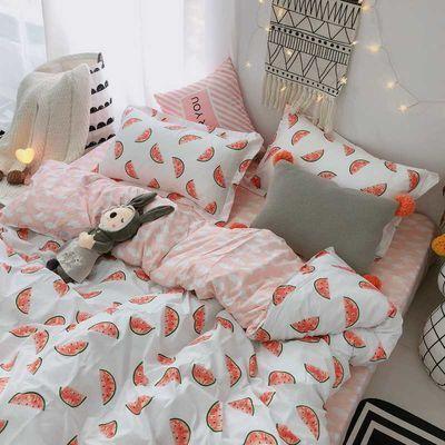 田园chic风床上用品可爱小菠萝床单四件套3被套学生宿舍三件套4