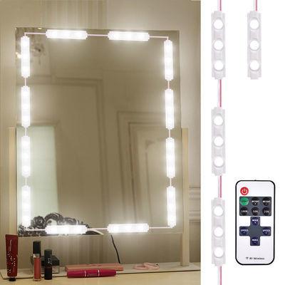 好莱坞led镜子补光灯梳妆台化妆美颜粘贴免打孔卫浴镜前灯泡防