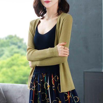 夏季薄款冰丝针织衫女开衫大码宽松防晒衣披肩外套新款空调衫