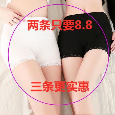 夏薄款防走光蕾丝安全裤女冰丝三分打底裤修身平角保险裤学生短裤