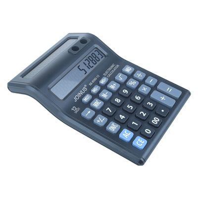 财务计算器办公商务双面大号语音计算器12位按健办公用品计算器