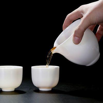 德化陶瓷茶具配件白玉瓷杯子纯白小号茶杯功夫茶具白瓷单杯主人杯
