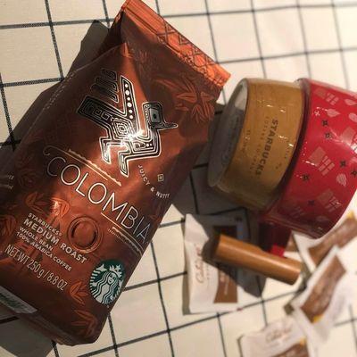 星巴克美国原装进口哥伦比亚咖啡豆250g门市现货