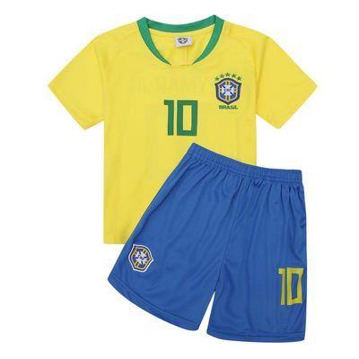 2018世界杯巴西阿根廷法国队儿童足球服套装运动服大中小童装男女