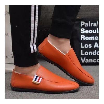 酷动城男子低帮一脚蹬运动休闲鞋刺绣新款亚麻运动鞋高帮运动黑色