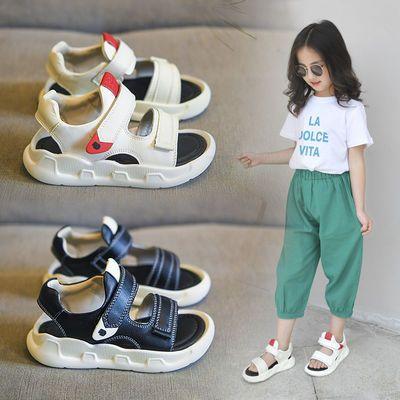 儿童凉鞋夏季沙滩鞋超轻实心底童鞋1-12岁男童凉鞋防滑女童鞋新款
