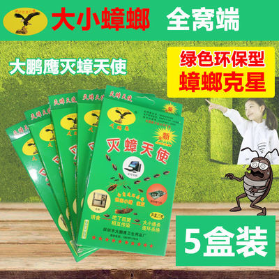 5盒大鹏鹰灭蟑天使绿色环保蟑螂药家用无毒全窝端强力灭蟑螂克星