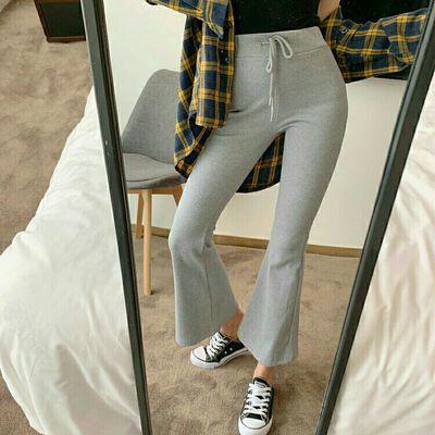休闲外穿打底裤春夏新款女学生韩版针织长裤弹力高腰显瘦陈雄服饰