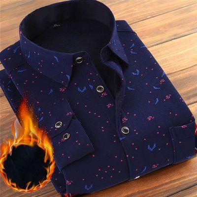新品2019春季男士衬衫款韩版修身衬衣男装上衣(加绒不加绒可选)