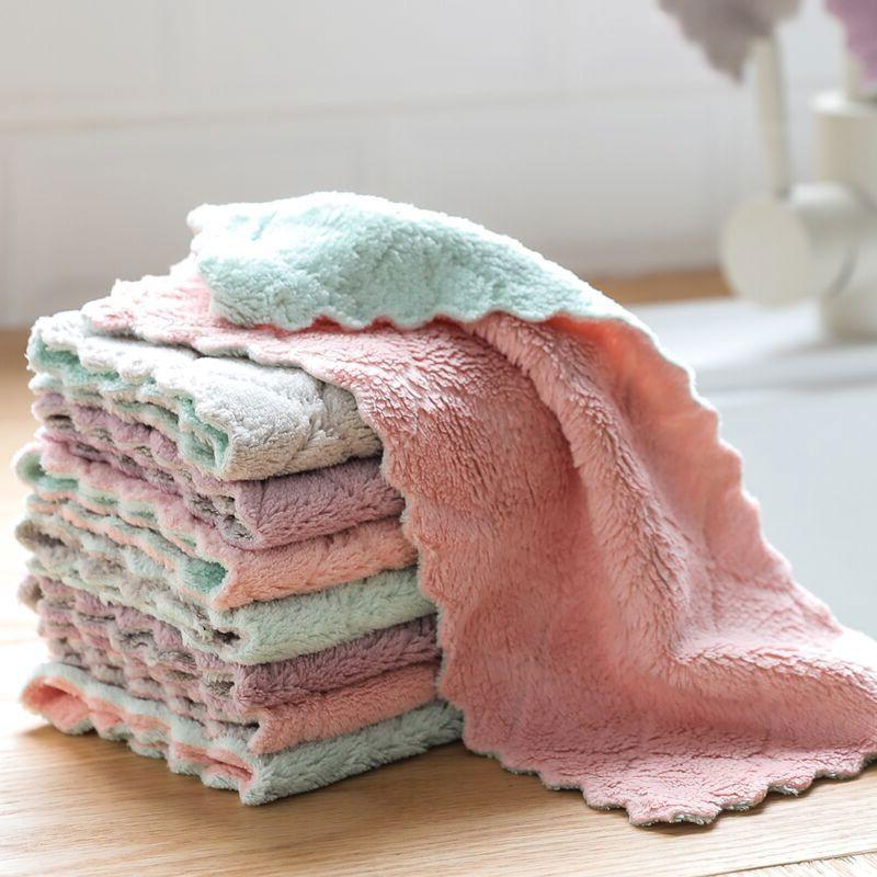 不沾油抹布厨房吸水不掉毛洗碗布巾擦手巾百洁布巾清洁巾擦桌擦碗