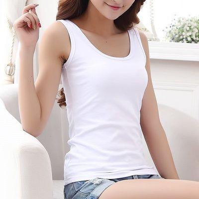 白色棉背心女式薄款短胸罩内衣吊带宽松小打底中学生大码士美夏少