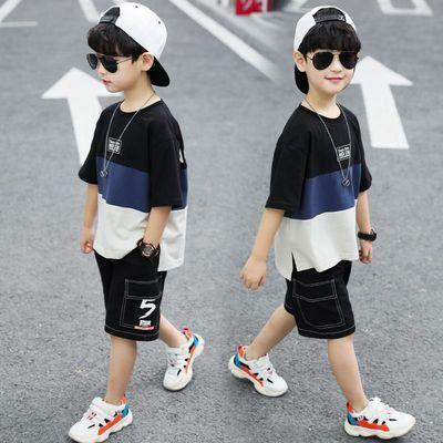 童装男童套装夏季装2020新款短袖小中大儿童运动帅洋气韩版两件套