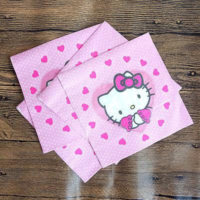 儿童生日派对用品 创意卡通餐巾纸印花可爱彩色抽纸面巾纸手帕纸