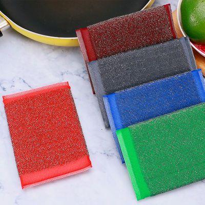 钢丝海绵擦钢丝布洗碗钢丝球厨房不锈钢百洁布刷锅洗锅清洁洗碗布的宝贝主图