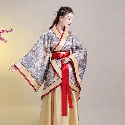传统汉服女中国风襦裙大裙摆清新淡雅唐汉影楼主题服装成人礼古装