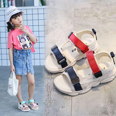 女童凉鞋2020新款小熊底夏新款男童沙滩鞋防滑软底中大童儿童鞋子