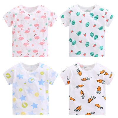 宝宝夏装套装男女童纯棉夏季婴儿短袖T恤一岁0-1-2-3岁两件套