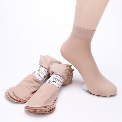 短筒薄款丝袜女士防勾丝面膜钢丝袜子简约夏季