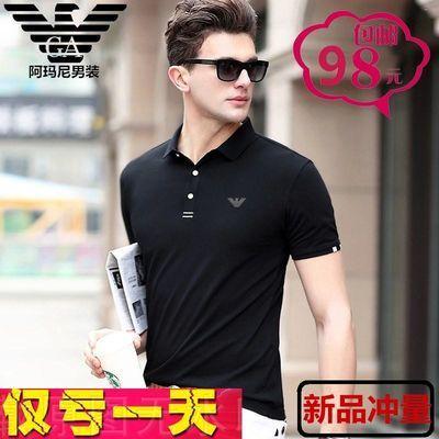 乔奇・阿玛尼短袖T恤男装新款丝光棉翻领中青年男士时尚休闲Polo衫