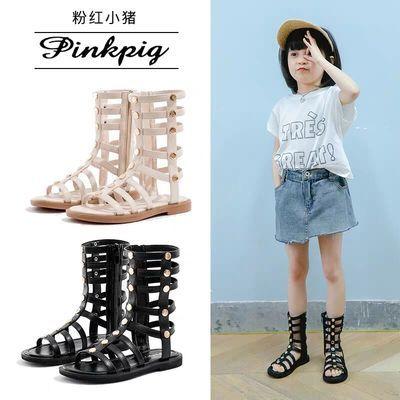 儿童凉鞋女孩罗马公主网红宝宝凉靴子学生新款夏韩版中大女童凉鞋