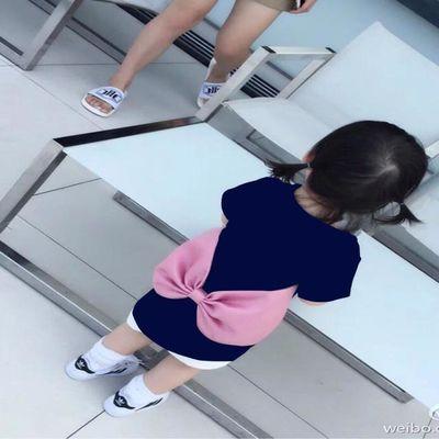 女童短袖加长款2019夏装新款儿童洋气时髦中大童女孩T恤中长款